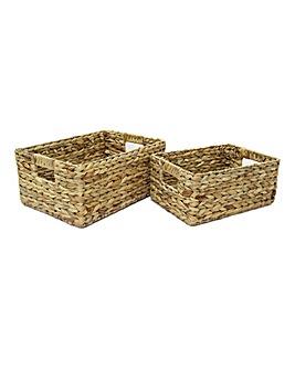 Hyacinth Open Baskets X 2