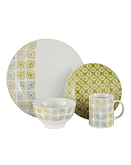 16pc Leaf Stack Dinnerset