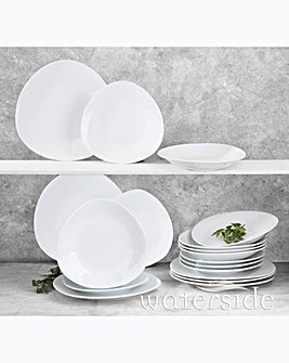 18 Piece Oslo Oval White Dinner Set