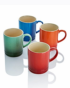 Graduated Tankard Mugs Pack of 4