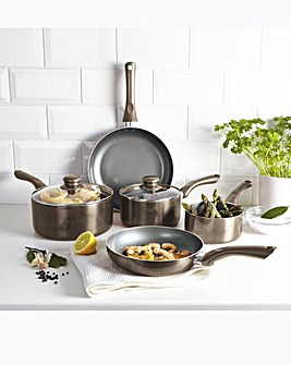 Cermalon Pewter 5 Piece Cookware Set