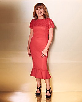 Lorraine Kelly Peplum Lace Dress