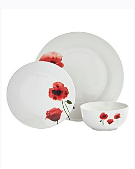 Poppy 12 Piece Dinnerset