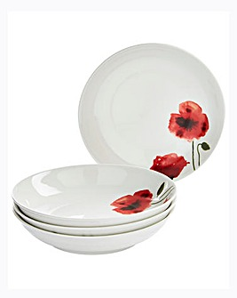 Poppy Set Of 4 Pasta Bowls