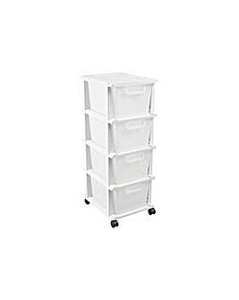 Keter 4 Drawer Plastic Unit - White