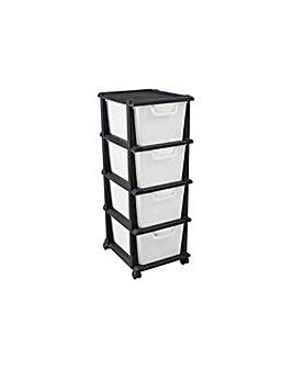Keter 4 Drawer Tower Unit - Black