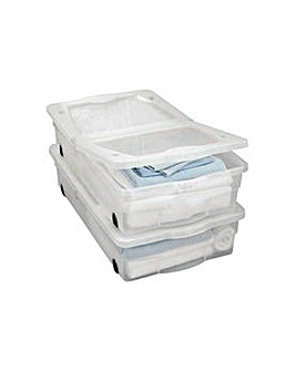 50L 2 Wheel Underbed Storage with Lids