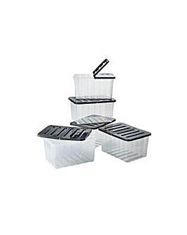 Supa Nova 10 L Storage Boxes - 6 Pack