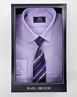 Rael Brook Lilac L/S Shirt And Tie Set R
