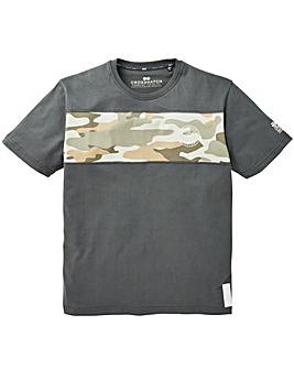 Crosshatch Camo Back Print T-Shirt