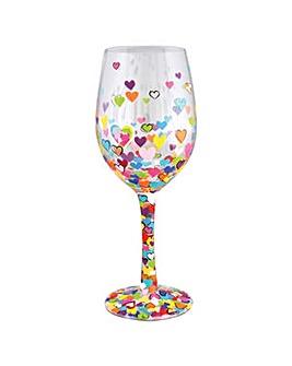 Lolita Hearts a Million Wine Glass