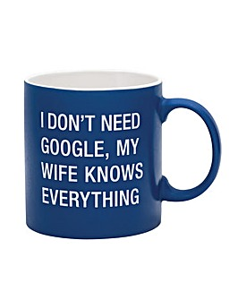 Say What? My Wife Knows Everything Mug