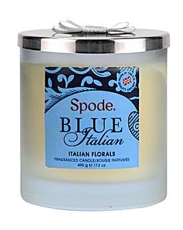 Spode Blue Italian 2 Wick Candle