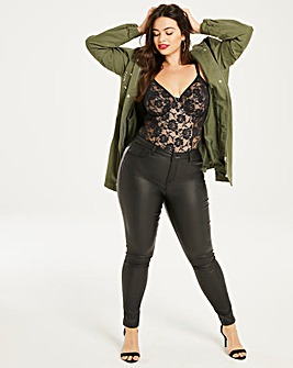 Chloe Coated Stretch Skinny Jeans Long