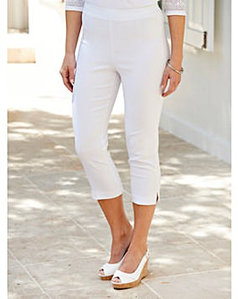 Stretch Pull on Cropped Trouser 21in
