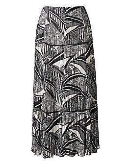 Plisse Maxi Skirt Length 35in