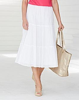 Long Line Crinkle Skirt 29 ins