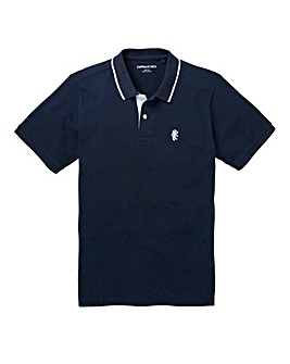 Capsule Navy Tipped Polo Long