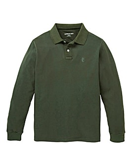 Capsule Khaki Long Sleeve Polo L