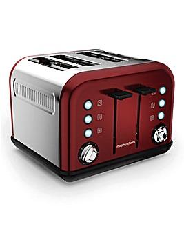 Morphy Richards Red 4-Slice Toaster