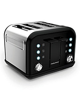 Morphy Richards Black 4-Slice Toaster