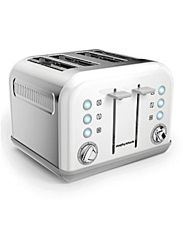 Morphy Richards White 4 Slice Toaster