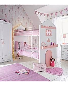 Castle Feature Bunk Bed with Mattress