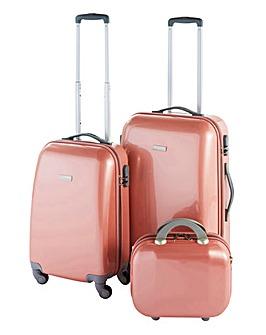 3 Piece Rose Gold Luggage Set