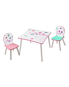 Flowers and Birds Table and Chairs