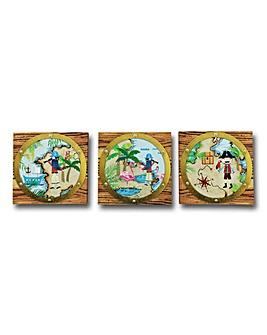 Pirates Ahoy Set of 3 Wall Art