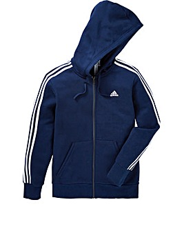 adidas Essential 3Stripe Full Zip Hoodie