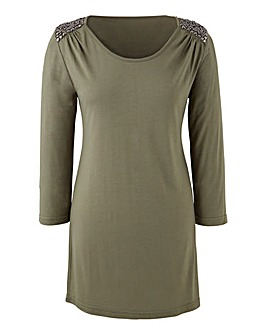 Jersey Tunic With Embellishment