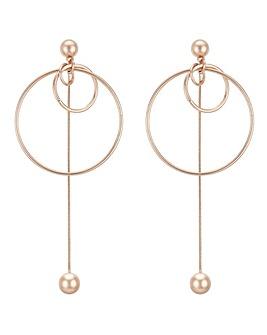 Hoop Cluster Drop Earring