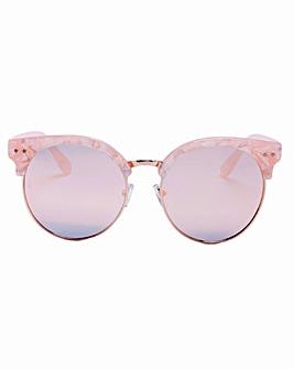 Kenzie Retro Style Pink Sunglasses