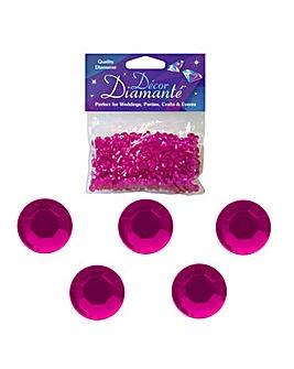 Decor Diamonte Diamonds Cerise x 6