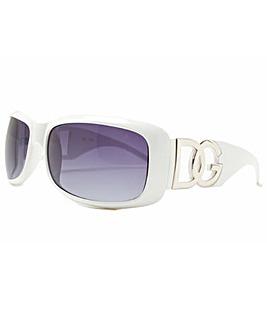 DG Eyewear White Frame Sunglasses