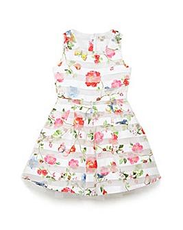 Yumi Girl Organza Floral Party Dress