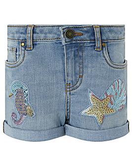 Monsoon Seahorse denim shorts