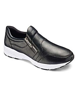 Heavenly Soles Zip Trainer Shoes E Fit