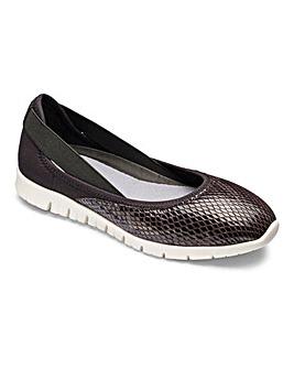 Heavenly Soles Ballerina Shoes EEE Fit