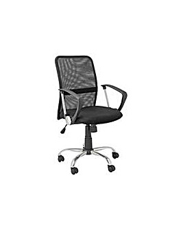 Mesh Gas Lift Mid Back Office Chair Blk