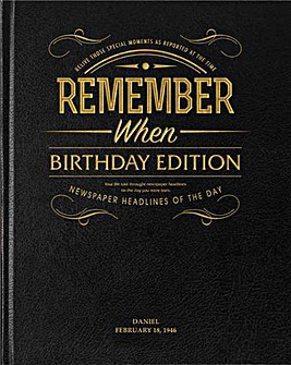 Remember When Birthday Edition Hard Back