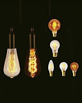 LED Candle Bulb Looped Filament 2W
