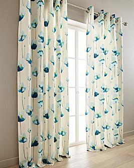 Kiera Printed Lined Curtains