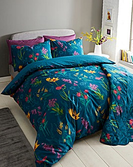 Ingrid Teal Duvet Cover Set