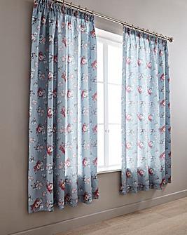 Anna Faux Silk Pencil Pleat Curtains