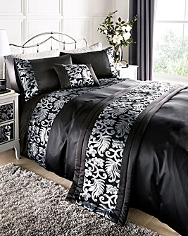 Grace Black Duvet Cover Set