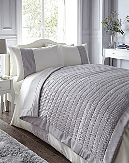 Mirage Sequin Silver Throw