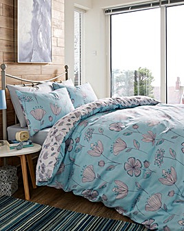 Alexis Duck Egg Duvet Cover Set
