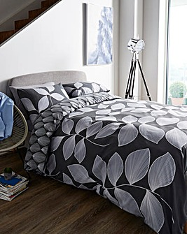 Hadley Charcoal Duvet Cover Set